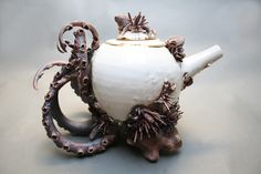 """Mary O'Malley; Ceramic, Sculpture """"Bottom Feeder Teapot Two"""""""