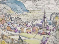 Saint-Siméon by Marc-Aurèle Fortin Saints, Princess Zelda, Artwork, Painting, Fictional Characters, Santos, Work Of Art, Painting Art, Paintings