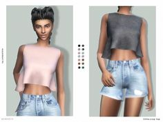 The Sims Resource: Little Crop Top by serenity-cc • Sims 4 Downloads