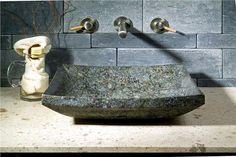 Blue Sapphire Granite Rectangular Vessel Sink - SinksGallery