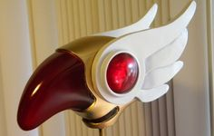 """I was commissioned to make the """"Sealing Wand"""" from the manga and anime series Card Captor Sakura (aka Cardcaptors). In the series, the Bird headed top changes to… …A star in a ring with tiny wings! I built half of the star head in [."""