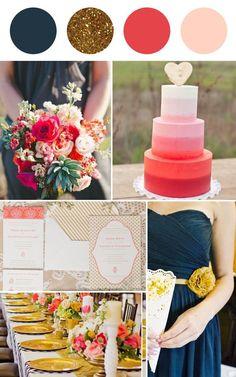 Gold and Navy Wedding #weddinginspiration #navywedding