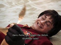 """Harry Potter moment when the usual Potter jumped up excitedly, exclaiming """"Go,go Gryffindor!!"""" Or was that just me?"""