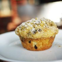 Make Orange-Currant Muffins with Pistachio Crumb from Lula Cafe in Chicago.