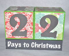 Items similar to Christmas Countdown blocks on Etsy Holiday Ideas, Christmas Ideas, Christmas Crafts, Christmas Decorations, Days To Christmas, Christmas Countdown, Do It Try It, 22 Days, Happy Holidays