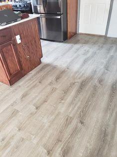 LifeProof Lighthouse Oak in. L Luxury Vinyl Plank Flooring sq. / - The Home Depot Vinyl Plank Flooring, Floor Design, Kitchen Dining Room Combo, House Flooring, Hardwood Floors, Dining Room Combo, Inexpensive Flooring, Hardwood Floor Colors, Hardwood
