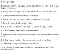 #Career #Goal #Tips