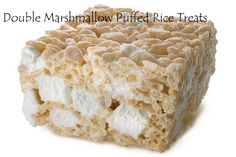 Double Marshmallow Puffed Rice Treats