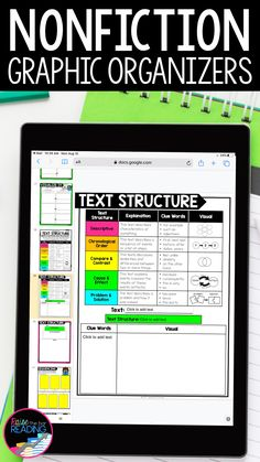 Teaching nonfiction reading skills is so much easier with these digital graphic organizers for any nonfiction text or reading comprehension passage! Use for distance learning in Google Classroom (Google Slides) with students in third grade, fourth grade, or fifth grade. Digital reading response for finding nonfiction text features, nonfiction text structure, finding text evicence, citing text evidence, fact finding, main idea and supporting details | text structure activity Elementary Teaching, Teaching Science, Upper Elementary, Reading Response, Reading Skills, Citing Text Evidence, Nonfiction Text Features, Reading Comprehension Strategies, Writing Anchor Charts
