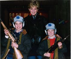 Wales of a time . . . Diana poses with William and Harry
