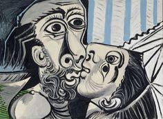 """Pablo Picasso, """"Le baiser"""", (1969) © RMN-Grand Palais (musée Picasso de Paris)"""