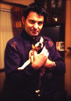 Ryan Kelly with Larry his new puppy. Too much cuteness going on!