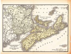 This is an antique map of Nova Scotia from the 1891 edition of the Encyclopedia Britannica. It measures 11 x 8.5 inches. It is in excellent condition for being over 100 years old. Coupon codes will save you money! Buy any two items and save 20% with coupon code TWO20 (min. purchase $15.00). Buy three or more items and save 30% with coupon code THREE30 (min. purchase $18.00). After you add the items to your cart and are ready to checkout, click on Apply Shop Coupon Code and enter the appro...