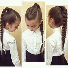 Hairstyle Ideas for Girls Going from School To Make Your Children Confident - Today Pin Lil Girl Hairstyles, Pretty Hairstyles, Braided Hairstyles, Hairstyle Ideas, Hairstyles 2016, Girl Hair Dos, Hair Due, Girls Braids, Toddler Hair