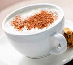 White hot chocolate & nutmeg when guests arrive. Yummy treat!