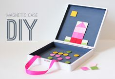 DIY Magnetic Toy Case - great for keeping the kids occupied on road trips!