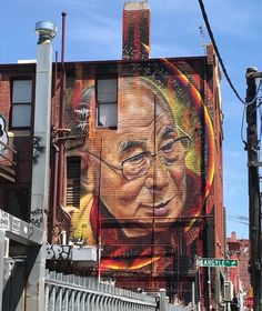 Street Art of @DalaiLama by Adnate found in Melbourne Australia