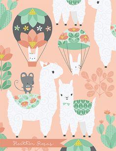 Photo May 05 2019 at Lamas maniacs Alpacas, Alpaca Illustration, Cute Illustration, Cute Photos, Cute Pictures, Llama Pictures, Llama Birthday, Easy Canvas Art, Cute Llama