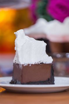 Make this easy and simple Devil's chocolate cream pie for a decadent dessert.