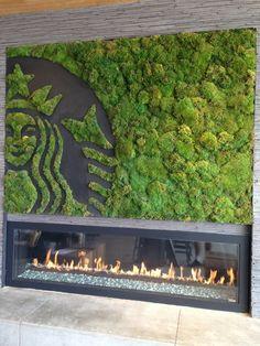 Logo światowej marki z mchu stabilizowanego. Moss Wall Art, Moss Art, Landscape Design, Garden Design, Wall Logo, Vertical Garden Wall, Interior Garden, Plant Wall, Wall Treatments