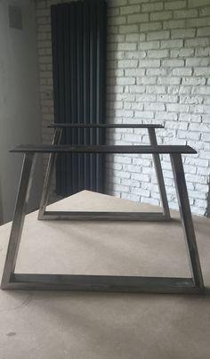 Pieds de table basse en tube de forme trapèze hauteur par metalbrut