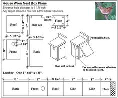 Bird House Plans Bird house plans Increase likelihood of attracting birds mounting boxes We give all the credit for each plan to Which comes 1 1 4 inch brads Birdho