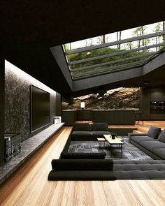 Home Room Design, Dream Home Design, Modern House Design, My Dream Home, Dream House Interior, Luxury Homes Dream Houses, Black Interior Design, House Rooms, Architecture Design