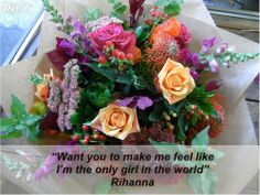Day 9 of our 14 days of Pot Pourri Love and with a funky vibrant mix of colours, it's. Flowers For Valentines Day, Mothers Day Flowers, Some Ideas, Rihanna, Color Mixing, Floral Wreath, Bouquet, Colours, Table Decorations