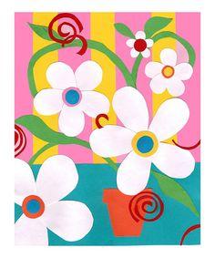 Loving this Dancing Flowers II Art Print on #zulily! #zulilyfinds