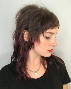 47 Very Edgy Hairstyles You'll See in 2020 47 Very Edgy Hairstyles You'll See in 2019 Long Shag with Micro Bangs Related posts:Sehen Sie sich unsere Kollektion an einfachen Frisuren an, die. Mullet Haircut, Long Shag Haircut, Mullet Hairstyle, Punk Haircut, Medium Hair Cuts, Medium Hair Styles, Curly Hair Styles, Edgy Long Hair Styles, Curly Hair With Bangs