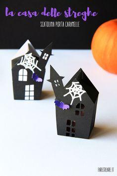 Casettte porta caramelle per Halloween.