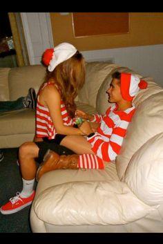 dress up like waldo for halloween with my boyfriend.