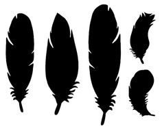 Download this feather outline template