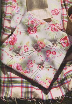 Floor Cushion Pillow art gift Cath Kidston design Patchwork Quilt Sewing pattern