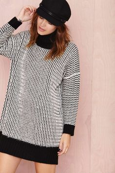 Opposites Attract Sweater Dress