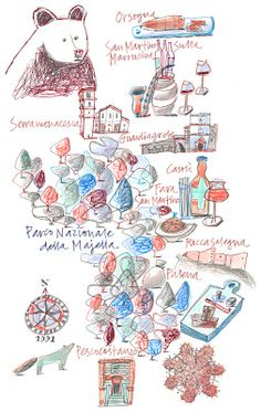 Giulia Binfield - Map of the Abruzzo region of Italy for La Repubblica