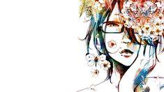 #anime girls, #manga, #Oyasumi Punpun, #colorful, #glasses, #artwork | Wallpaper No. 184471 - wallhaven.cc
