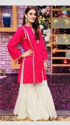 Stylish Dress Designs, Stylish Dresses, Casual Dresses, Girls Dresses, New Pakistani Dresses, Pakistani Dress Design, Sharara Designs, Kurta Designs Women, Asian Fashion