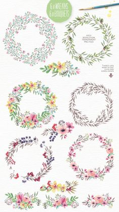 40% off! Magical Watercolors vol 3 by Lisa Glanz on Creative Market