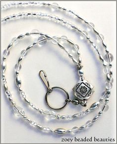 lanyard with clear beads