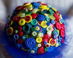 Superhero button bouquet alternative bouquet