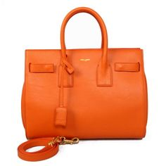 2014 Yves Saint Laurent beauty Classic Sac De Jour Bag in Original Leather 7102 Orange