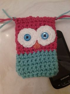 Crochet Cell Phone Cozy Owl by LuvJac on Etsy, $13.00