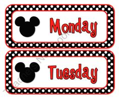 FREE Mouse Days of the Week Cards from Live Laugh Love Learn on TeachersNotebook.com (12 pages)