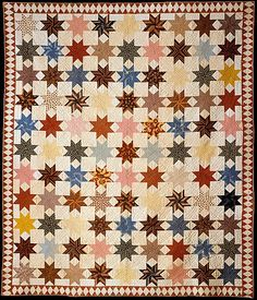 Star of Lemoyne quilt, c. 1846. From the collections of the Metropolitan Museum of Art.