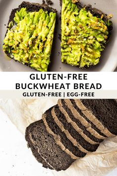 Homemade Gluten-free Buckwheat Flour Bread Gluten Free Baking, Vegan Gluten Free, Gluten Free Recipes, Vegan Baking, Healthy Baking, Keto Recipes, Easy Bread Recipes, Real Food Recipes, Baking Recipes