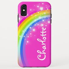 Rainbow pink girls custom name Case-Mate iPhone case Technology Gifts, Business Supplies, Ipad Case, Pink Girl, Create Your Own, Iphone Cases, Rainbow, Girls, Products