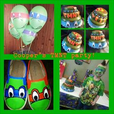 My son at his TMNT birthday party