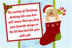 Make a handmade Christmas stocking from a kit that contains everything you need. Take a look at the many different kits available. Christmas Stocking Kits, Handmade Christmas, Christmas Stockings, Christmas Ideas, Christmas Ornaments, Make Your Own, How To Make, Holiday Decor, Design