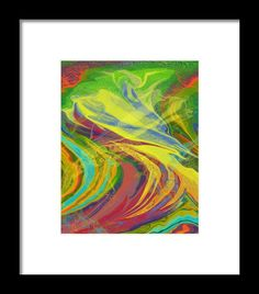 Wind And Fire Framed Print By Elva Robinson